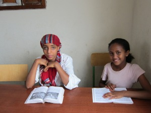 Girls at Ethiopia Reads Library