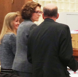 Carri Williams (left) with her two public defenders