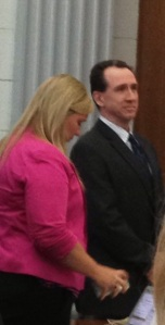 Larry Williams, with his public defender Rachel Forde