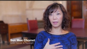 Sun Mee Chomet: actor/playwright. adoptee, featured in Coming Home Kickstarter video