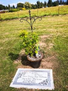 Hana's grave at Union Cemetery. Photo taken September 8, 2014.